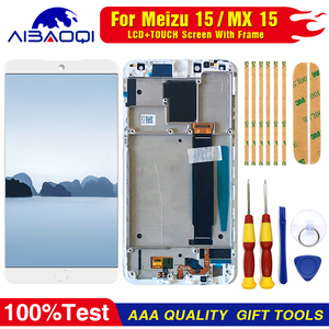 Image 2 - AiBaoQi do wyświetlacza LCD MEIZU 15 + ekran dotykowy digitizer do Meizu MX 15 / M881hM881Q AMOLED wyświetlacz lcd z ramką