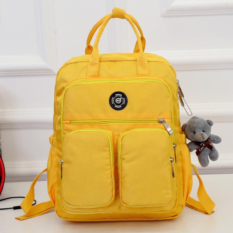 JODIMITTY Fashion Woman Backpack Waterproof Nylon Soft Handle Solid Multi-pocket Travel Zipper Mochila Feminina School Bags