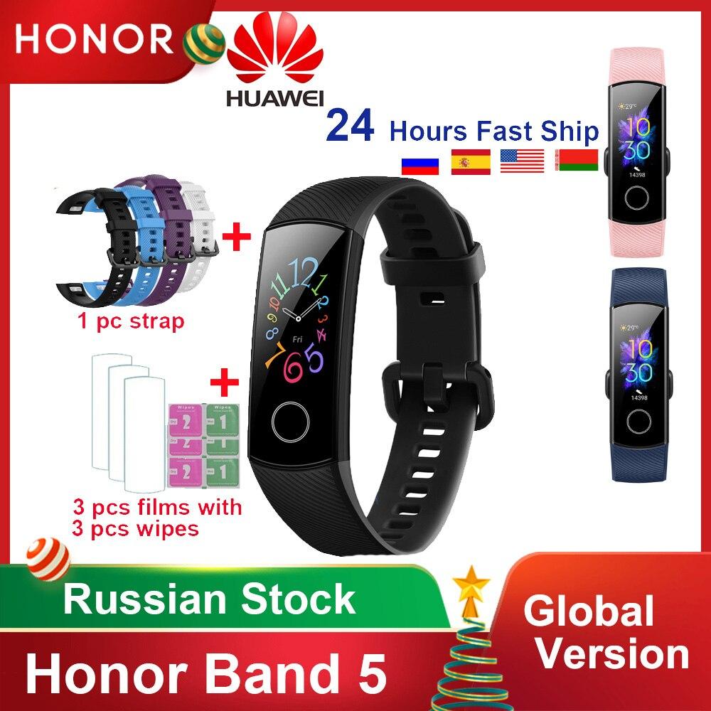 Original Huawei Honor Band 5 4/4e Version mondiale sang oxygène bande intelligente moniteur de fréquence cardiaque étanche Fitness montre Bracelet | AliExpress