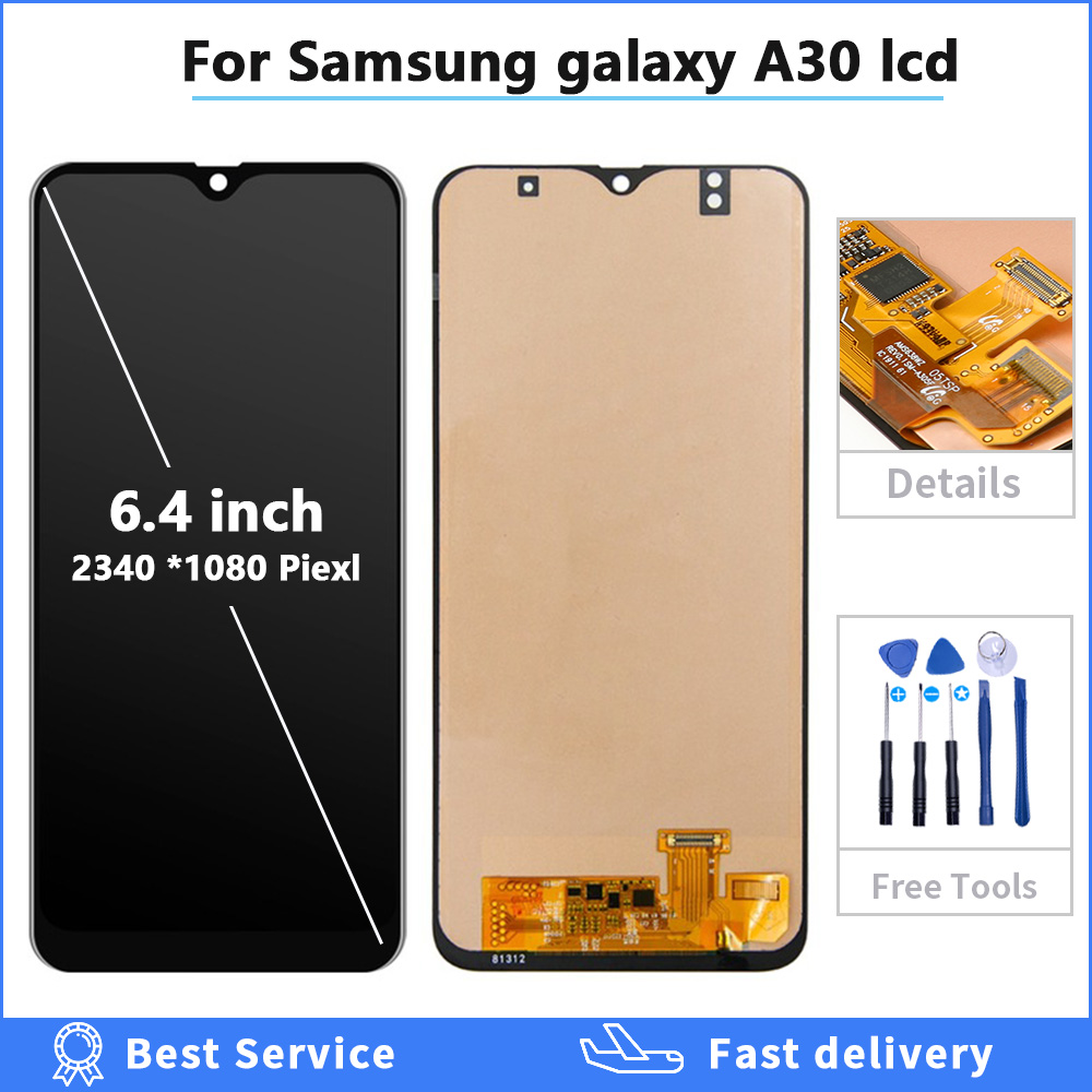 OLED Display For <font><b>Samsung</b></font> <font><b>galaxy</b></font> <font><b>A30</b></font> A305/DS A305F A305FD A305A Display Touch Screen Digitizer Assembly For <font><b>Samsung</b></font> A305 <font><b>A30</b></font> <font><b>LCD</b></font> image