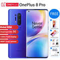 ROM internationale Oneplus 8 pro 5G téléphone portable 12 go RAM 256 go ROM 6.78 120Hz Snapdragon 865 48MP NFC 8 go 128 go 5G Smartphone