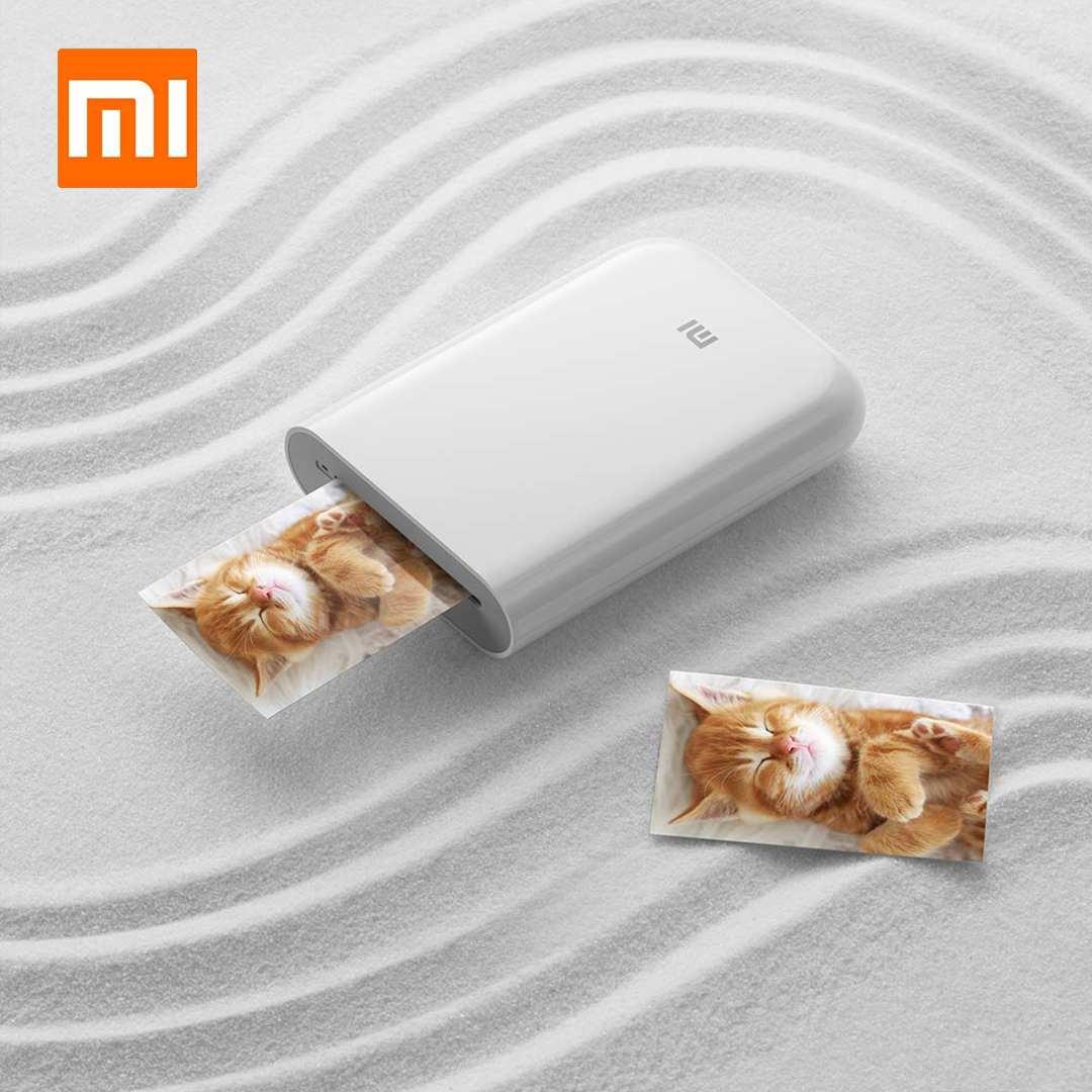 Xiaomi Mini AR Printer 300dpi Portable Photo Mini Pocket With Share 500mAh Picture Pocket Printer Printer Work With Mijia App
