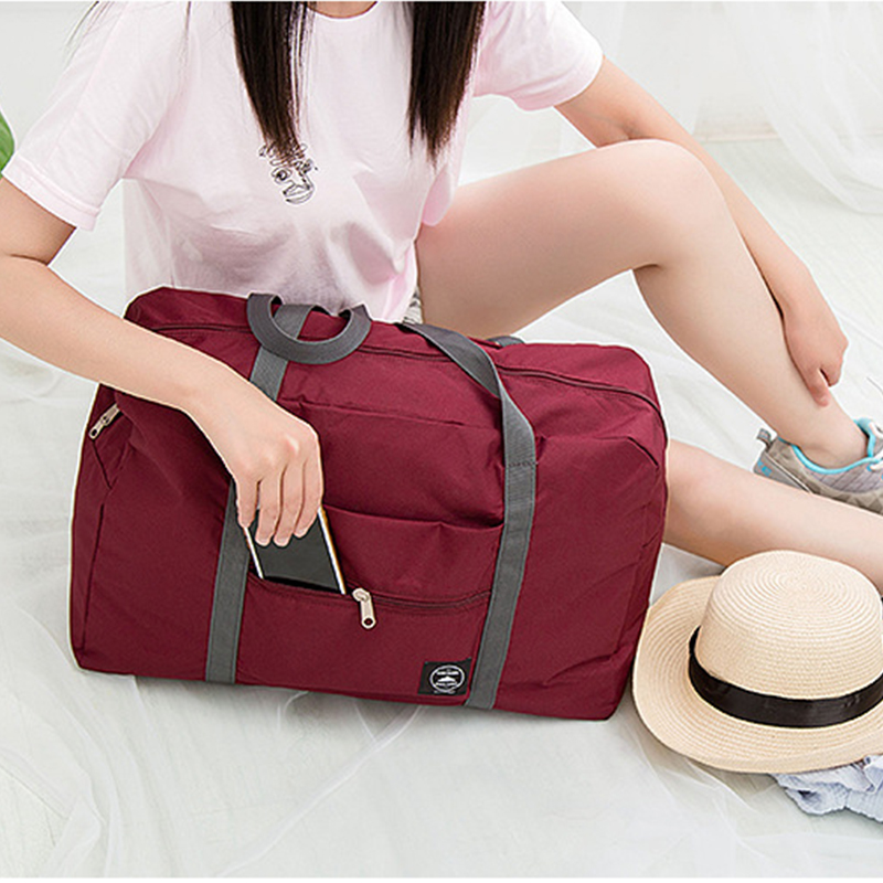 Lightweight Foldable Duffle Bag Tote Carry On Luggage Travel Gym Sports Clothes Organizer 19 Inch Unisex Waterproof Storage Bags