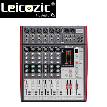 Leicozic 6 channel Professional Mixing Console BX 6 rack mount audio mixing console mixer digital mini console mixeur console
