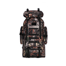 high quality Large-capacity military camouflage tactical shoulder bag waterproof and tear-resistant 100L mountaineering