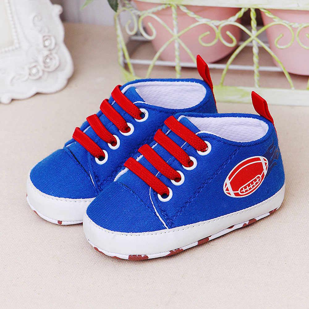 Pasgeboren Baby Baby Sneakers Cartoon Meisjes Jongens Zachte Schoenen Prewalker Casual Flats Schoenen Bal Afdrukken Antislip Peuter Schoenen