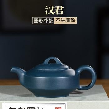 Hundred Believe Dark-red Enameled Pottery Teapot Yixing Raw Ore Famous Pure Full Manual Make Blackish Green Mud Han Jun Pot