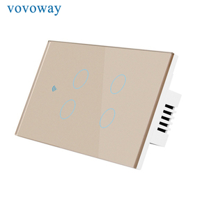 Image 2 - Vovoway US Touch switch home wall stick light switch wifi network connection mobile phone APP remote control,4gang AC110V 220V