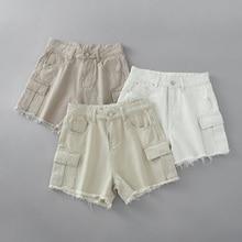 Denim shorts High waist pocket short Pants SF