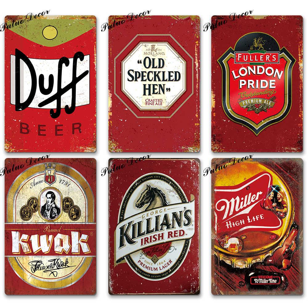 Bier Zeichen Plaque Metall Vintage Pub Metall Zeichen Zinn Zeichen Metall Platte Wand Dekor für Bar Pub Club Mann Cave dekorative Platten