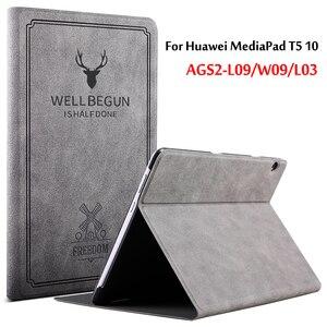 Умный чехол из искусственной кожи для Huawei MediaPad T5 10 AGS2-L09/W09/L03 с функцией автоматического пробуждения/сна для huawei T5 10,1''