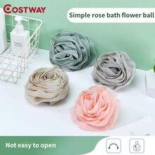 COSTWAY ванна мяч ванна цветок роза форма пузырь сетка взрослый скраб спина ванна мяч ванна продукты огонь для тела мягкий душ 50 г