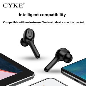 Image 4 - CYKE yeni akıllı kablosuz TWS Bluetooth kulaklık çeviri kulaklık dijital ekran güç şarj depo spor kulaklıklar