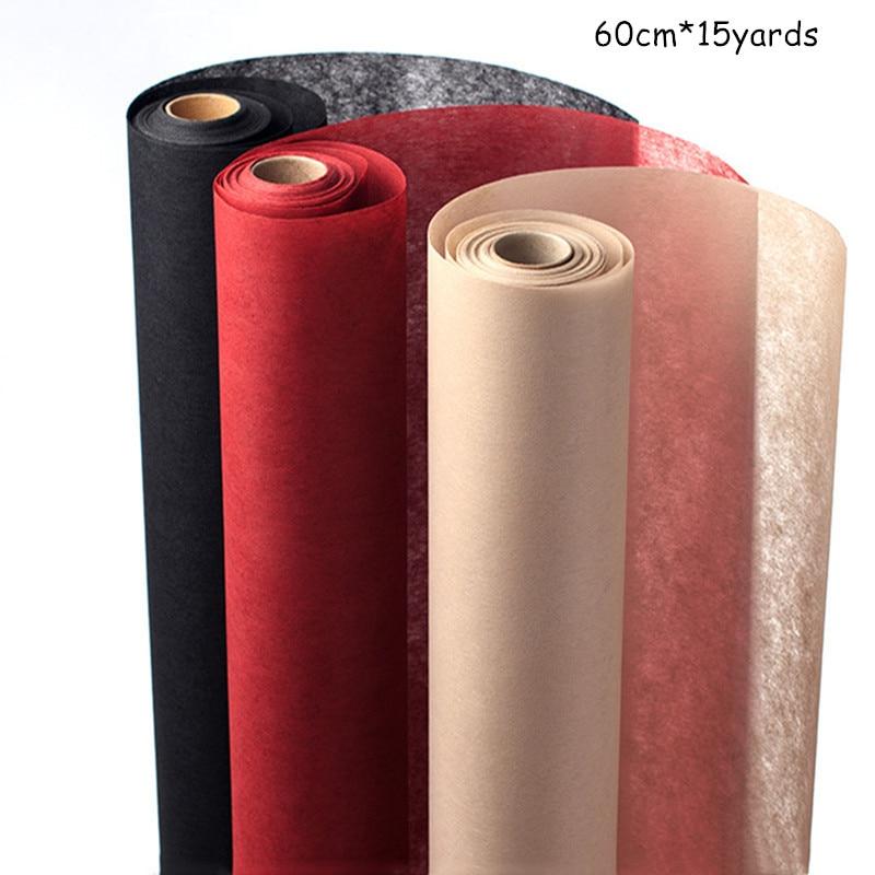 60cm * 15 yardas/rollo de papel de embalaje de flores no tejidas translúcidas Material de embalaje de regalo DIY para tienda de flores