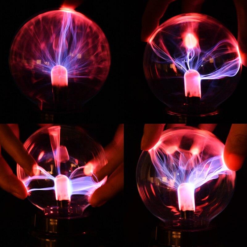 Novelty Lighting Glass Magic Plasma Glass Ball Light Table Lights Sphere Night Light Kids Gift For Xmas New Year Magic Lamp