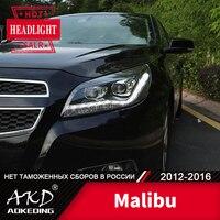 Head Lamp For Car Chevrolet Malibu 2012 2016 Headlights Fog Lights Day Running Light DRL H7 LED Bi Xenon Bulb Car Accessory