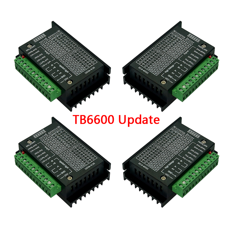 4pcs TB6600 Updated Version Stepper Motor Driver 4A 9~42V TTL 32 Micro-Step CNC 1 Axis 2 Or 4 Phase Of 42 57 86 Motor Controller
