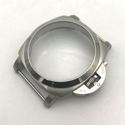 47mm Stainless Steel Hand-Winding Polished Watch Case for ETA 6497 6498 For Seagull ST36 Watch Movement Repair Parts