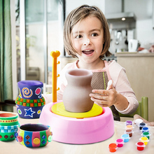 Funny Electric Pottery Workshop Kids Toys Art Craft Hobby Manual Pottery Educational Toys For Children Creativity Teaching Aids