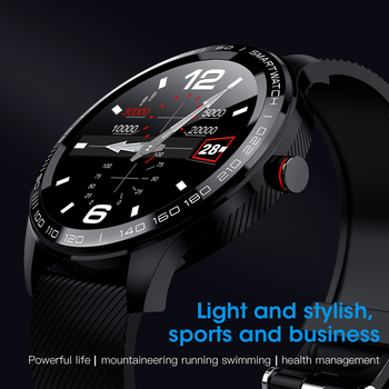 LEMFO L9 ECG+PPG Smartwatch Men Full Round Multi-Touchable Smartwatch IP68 Sport Watches for Men Bluetooth Reminder/ Music 1