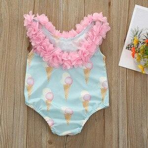 2020 Fashion Trend Cute Toddler Kid Baby Girl Sleeveless Bikini Swimwear Beach One Piece Swimsuit Summer Holiday Bikinis 12M-5Y(China)