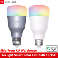 Yeelight-bombilla LED inteligente de Color, 1S/1SE, Control de luz por aplicación remota, temperatura ajustable, funciona con Google SmartThings, Alexa y Mijia