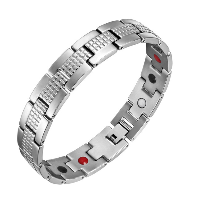 Oktrendy Men Therapeutic Energy Healing Magnetic Bracelet Black Therapy Arthritis Jewelry Father's Day Gift New 2020