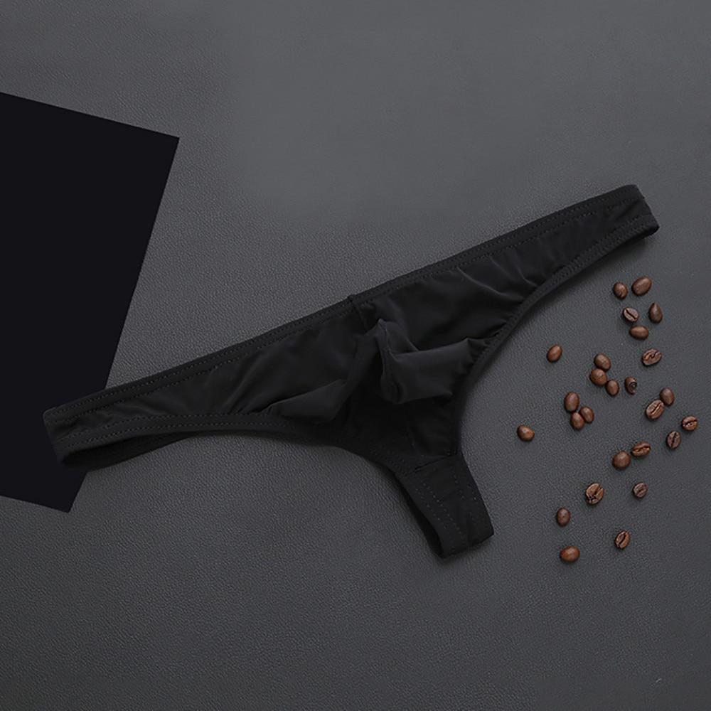 Men's Underwear Panties Sexy Shorts Raised Underwear Ice Silk T Underwears Men Sexy Transparent Personal Briefs 51*