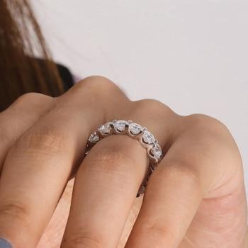 Asscher Cut Moissanite  Halo Solid  14K White Gold Ring 6