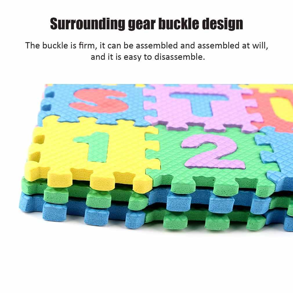 36 pz/set Per Bambini Alfabeto Lettere Numeri Di Puzzle Colorati Per Bambini Tappetini Gioco Zerbino Pavimento Morbido Strisciante Di Puzzle Per Bambini Giocattoli Educativi