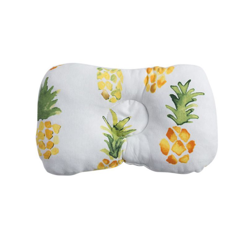 Cute Baby Pillow Cotton Anti-Head Stereotype Safe Four Seasons Universal Newborn Soft Anti-Spitting Milk