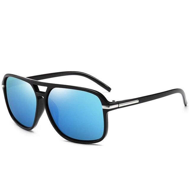 Gafas de Sol polarizadas y cuadradas para hombre, lentes de sol masculinas a la moda, estilo cuadrado con gradiente, adecuadas para conducir, diseño vintage de marca, 2020 3