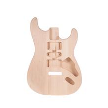 Muslady ST01-DT Unfinished E-gitarre Körper Handarbeit DIY Gitarre Körper Linde Barrel Ersatz Gitarre Zubehör NEUE cheap T01-DT Electric Guitar Body CN (Herkunft)