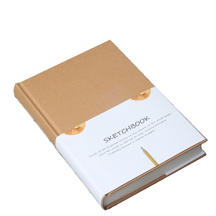 1Pcs Notebook Sketchbook Notepad A5 Diary Drawing Painting Graffiti White Page Blank Paper Art Office School Supplies Stationery