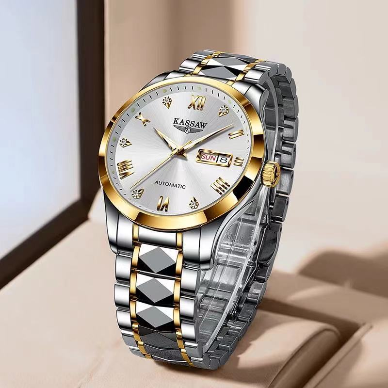 Swiss Brand KASSAW Men Automatic Mechanical Watch Japan Movement Sapphire Men Automatic Stianless Steel Classic Luxury Watches