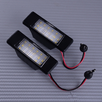 DWCX 2PCS 6000K LED Number License Plate Light 12V Fit For Nissan Qashqai Patnfinder Juke Primera X-Trail