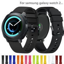 Correa de reloj de 20mm para Samsung galaxy watch active 2 gear S2 42mm deporte silicona correa pulseira pulsera correa accesorios de reloj