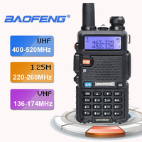 2019 New Baofeng UV 5R III Tri Band Dual Antenna 5W VHF AndUHF Walkie Mobile Transceiver Radios Comunicacion Pinganillo Baofeng