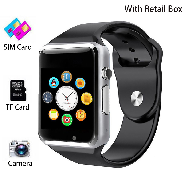 Smart Watch A1 with Camera Smart Bracelet Wristwatch Step Calorie Counter Sleep Monitor Bluetooth smartwatch A1 support SIM Card