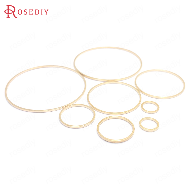 (13077)Diameter 8MM to 70MM Round Brass Closed Rings Connect Rings Jewelry Making Findings More color can picked