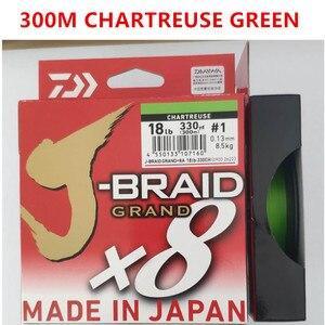Image 3 - 2018 جديد دايوا J BRAID جراند X8 مضفر خيط صنارة الصيد PE الأخضر الداكن CHARTREUSE الأخضر متعدد الألوان المحرز في اليابان