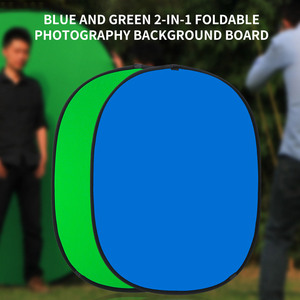 Фотоотражатель Портативный хромакей-зелены фон Экран фон для YouTube видео студии 100x150 см 2 в 1