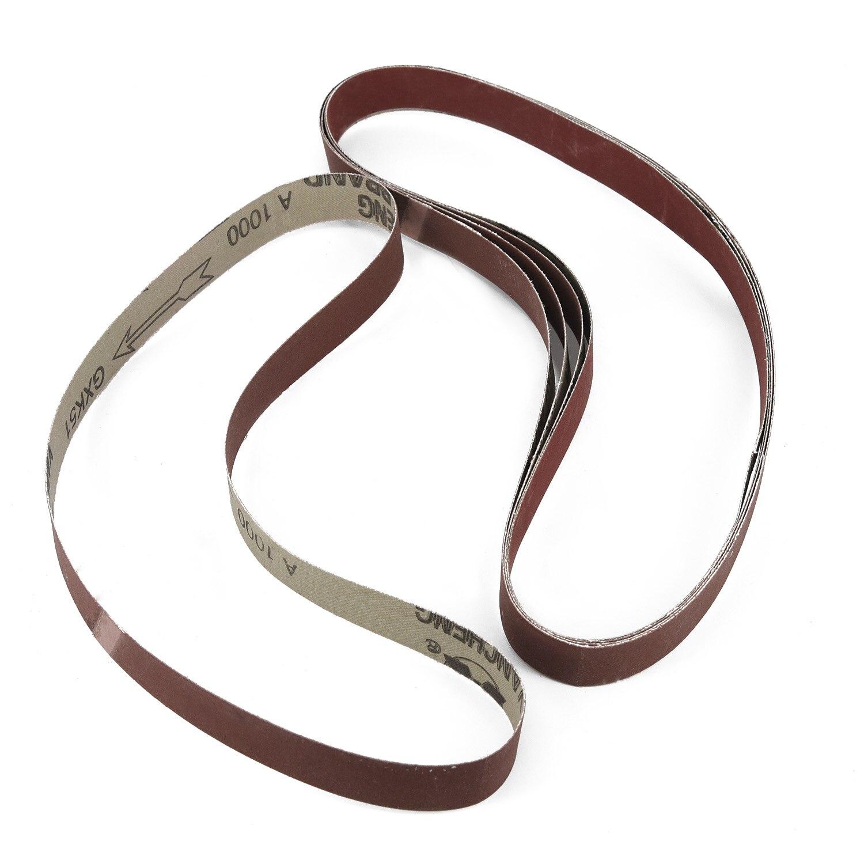 15pcs Grinding Belt Grinder Accessories Belts 600 800 1000 Grit Polishing  1inchx30inches Sanding Sander Abrasive Tools