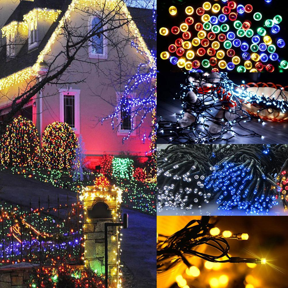 22M New Decorative Solar Christmas Lights 200 LED Modes Fairy String Light For Outdoor Wedding Party Seasonal Decorations