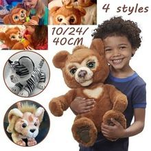 2021 Новый 24 см любопытный медведь интерактивный плюшевый игрушечный медведь милые плюшевые игрушки предъявлено обвинение с милым медведем, ...