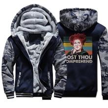 Men Hocus Pocus Camo Thick Winter Fleece Warm Swea