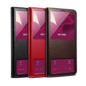 Image 5 - Huawei Honor 20 Case Genuine Leather Smart Window Magnet Flip Retro Cover For Huawei Honor 20 Pro Phone Casing With Sleep Koosuk