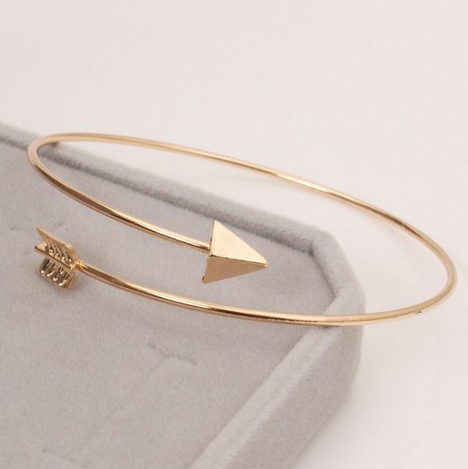 gothic Punk Women Ladies Arrow Bangle Cuff Bracelets Jewelry Open Adjustable Arrow Bracelet Bangles Pulseiras Bijoux