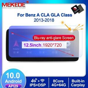 Image 1 - 1920*720 Android10 4G + 64G רכב GPS ניווט נגן DVD עבור מרצדס בנץ CLA כיתת W117 כיתה W176 GLA Class X156 2013 2018