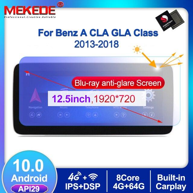1920*720 Android10 4G + 64G רכב GPS ניווט נגן DVD עבור מרצדס בנץ CLA כיתת W117 כיתה W176 GLA Class X156 2013 2018